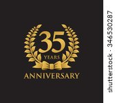 35 years anniversary wreath... | Shutterstock .eps vector #346530287