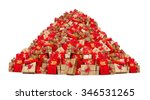 big pile of christmas gifts... | Shutterstock . vector #346531265