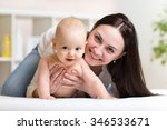 portrait of happy mother and... | Shutterstock . vector #346533671