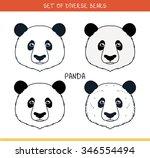 panda bear. set of isolated... | Shutterstock . vector #346554494