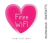 vector hand drawn free wifi... | Shutterstock .eps vector #346556771