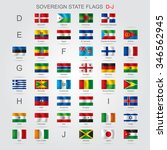 set of world sovereign state... | Shutterstock . vector #346562945