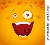vector illustration emotion in... | Shutterstock .eps vector #346564484
