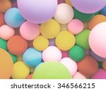 colorful balloons  vintage... | Shutterstock . vector #346566215