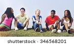 students friendship team... | Shutterstock . vector #346568201