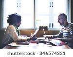 team partner communication... | Shutterstock . vector #346574321