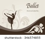 ballet dancer   illustration... | Shutterstock .eps vector #346574855