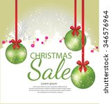 christmas sale. vector... | Shutterstock .eps vector #346576964