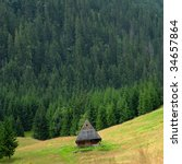 rural area in the mountains.... | Shutterstock . vector #34657864