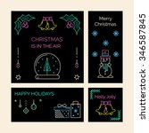 christmas and new year greeting ...   Shutterstock .eps vector #346587845