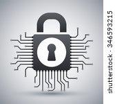 vector information security... | Shutterstock .eps vector #346593215