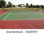 tennis court playing surface... | Shutterstock . vector #3465957