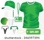 green sport corporate identity...   Shutterstock .eps vector #346597394