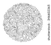 pattern for coloring book.... | Shutterstock .eps vector #346602365