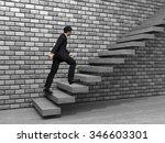 concept 3d man or  businessman... | Shutterstock . vector #346603301