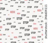 seamless pattern with the text... | Shutterstock . vector #346604111