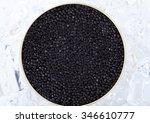 natural sturgeon caviar in a... | Shutterstock . vector #346610777