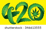 green marijuana leaf 420 text...