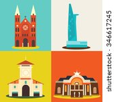 sai gon icon vector | Shutterstock .eps vector #346617245