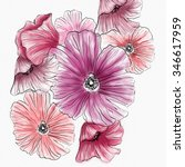 watercolor botanic flower | Shutterstock . vector #346617959