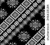 ethnic seamless pattern. ethno... | Shutterstock . vector #346618184