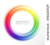 abstract blurry color wheel.... | Shutterstock .eps vector #346620029