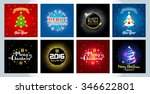 set of christmas and new year...   Shutterstock .eps vector #346622801