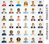 people icon set   different... | Shutterstock .eps vector #346631474