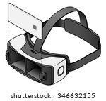 virtual reality vr goggles with ... | Shutterstock .eps vector #346632155