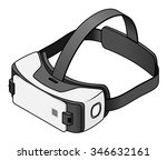 virtual reality vr goggles with ...   Shutterstock .eps vector #346632161