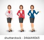 businesswomen   woman as manager | Shutterstock .eps vector #346644065