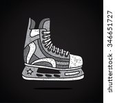 men's hockey skates. vector...   Shutterstock .eps vector #346651727