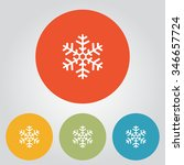 snowflake icon of simbol | Shutterstock .eps vector #346657724