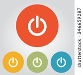 power sign icon. flat design... | Shutterstock .eps vector #346659287