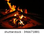 beach bonfire | Shutterstock . vector #346671881