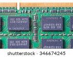 Closeup Of A Memory Ram Chip...