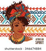 beautiful african american... | Shutterstock .eps vector #346674884