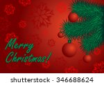 postcard of congratulation... | Shutterstock .eps vector #346688624