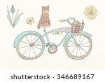 pastel color vintage bicycle   | Shutterstock .eps vector #346689167