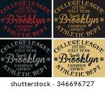 brooklyn college league sports... | Shutterstock .eps vector #346696727