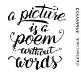 a picture is a poem without... | Shutterstock .eps vector #346699931