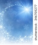 blue winter background with... | Shutterstock .eps vector #346705277