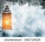 Christmas Lantern Hanging On...