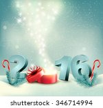 happy new year 2016  new year... | Shutterstock .eps vector #346714994