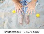 women's hand   Shutterstock . vector #346715309
