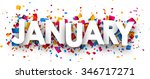 january sign with colour... | Shutterstock .eps vector #346717271