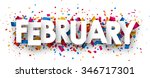 february sign with colour... | Shutterstock .eps vector #346717301