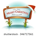 santa claus hat on christmas... | Shutterstock .eps vector #346717361