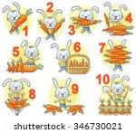 numbers in pictures set  rabbit ... | Shutterstock .eps vector #346730021