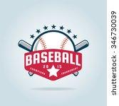 baseball badge sport logo team... | Shutterstock .eps vector #346730039